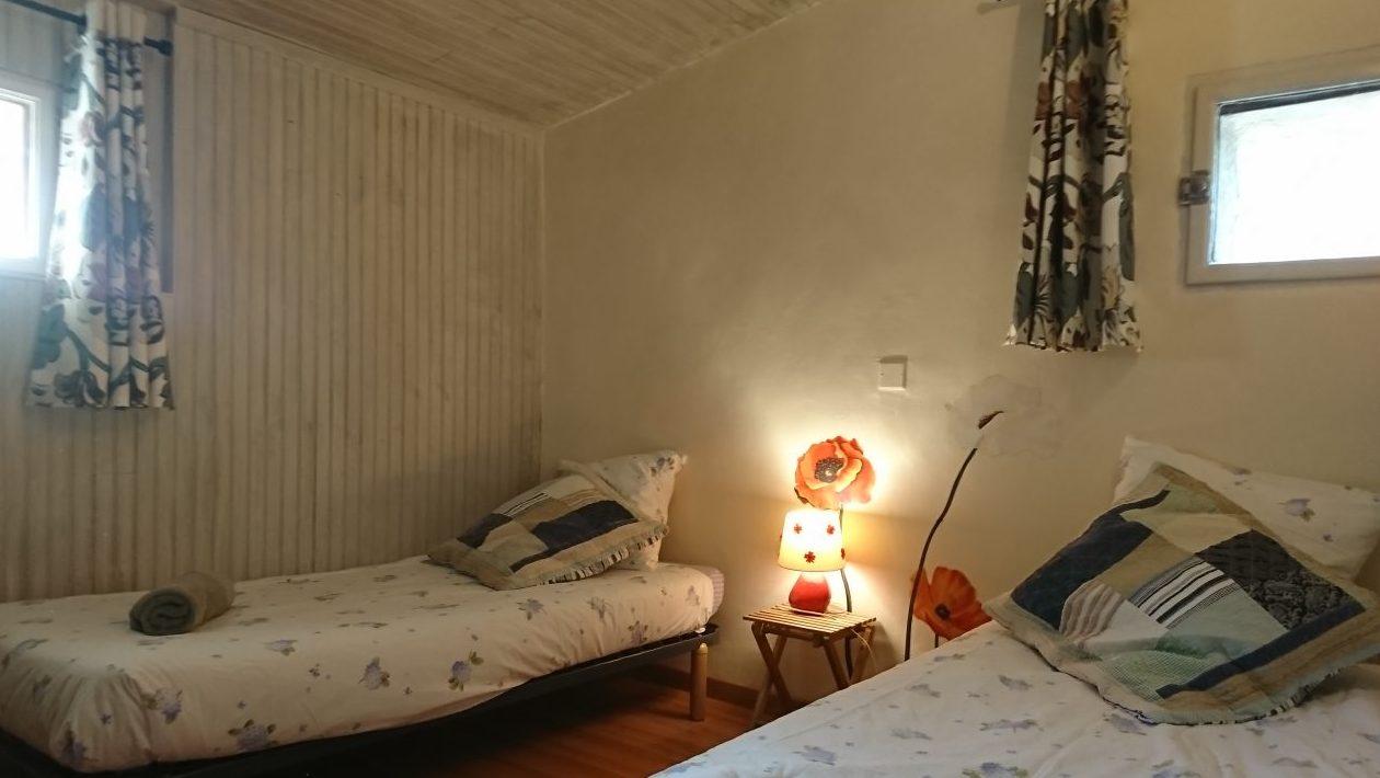 Chambre « Mucha et Floralies » : 2 + 2 chambres séparées avec salle d'eau et wc indépendants.